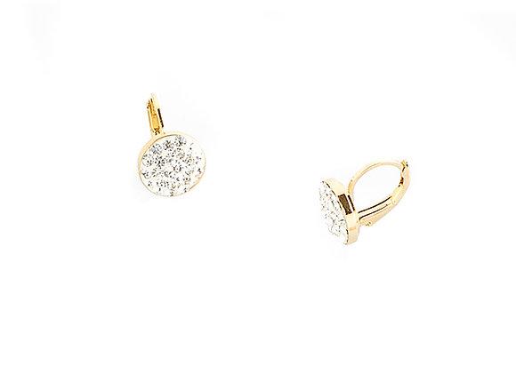 N&B Gold Crystal Earrings