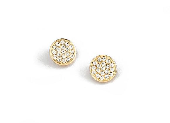 N&B Round Stone Post Earrings