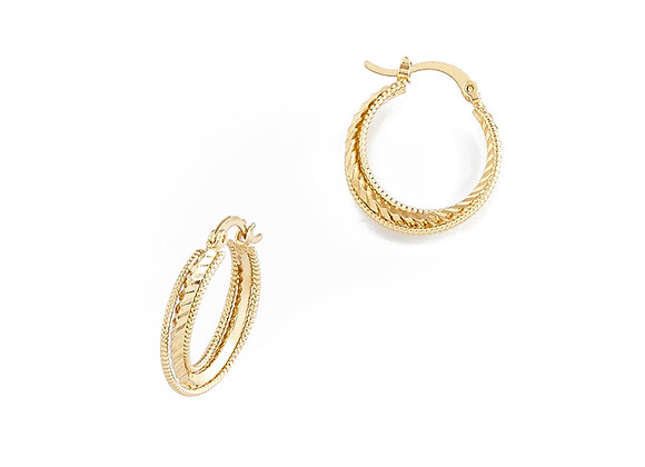 N&B Nani Hoop Earrings