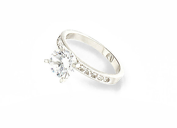 N&B Crystal Solitaire Ring 8mm