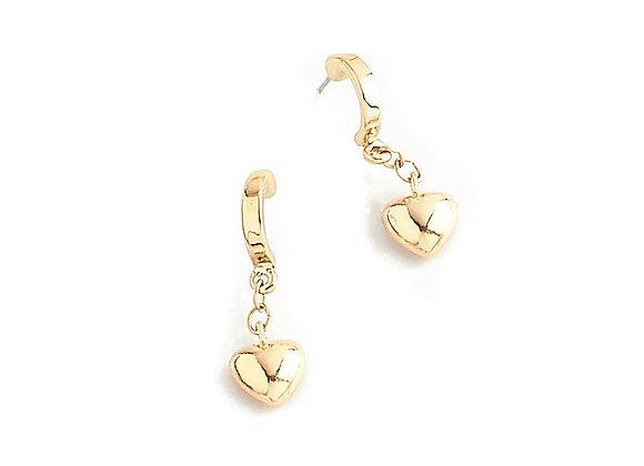 N&B Heart Earrings