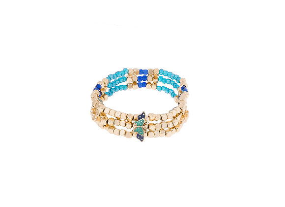 N&B Golden Blue Toned Bracelet