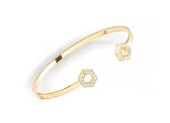 N&B Gold Crystal Adjustable Bracelet