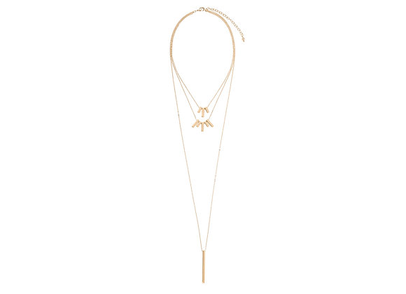 N&B Gold Bar Necklace