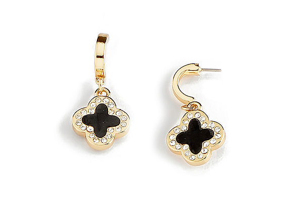 N&B Floral Earrings