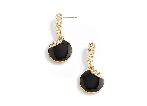 N&B Onyx Eye Earrings