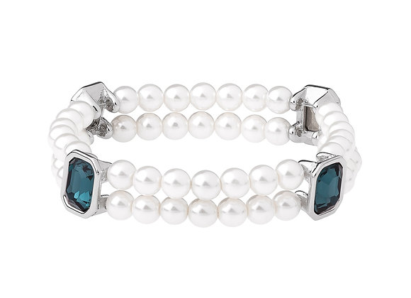 N&B Aqua Bracelet with Pearl Beads