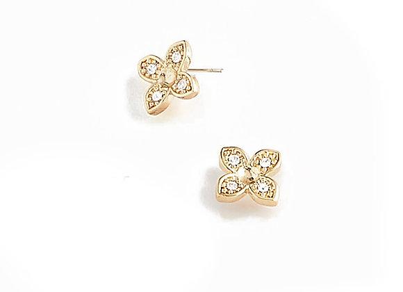 N&B Flower Earrings