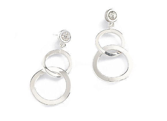 N&B Rhodium Circles
