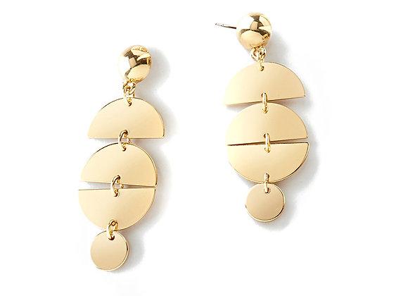 N&B Gold Geo Earrings