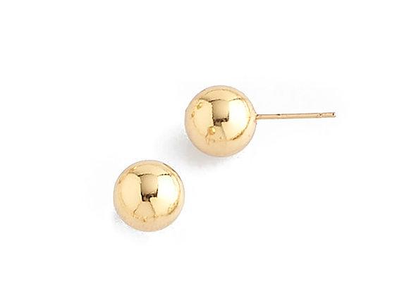 N&B Gold Stud Ball Earrings