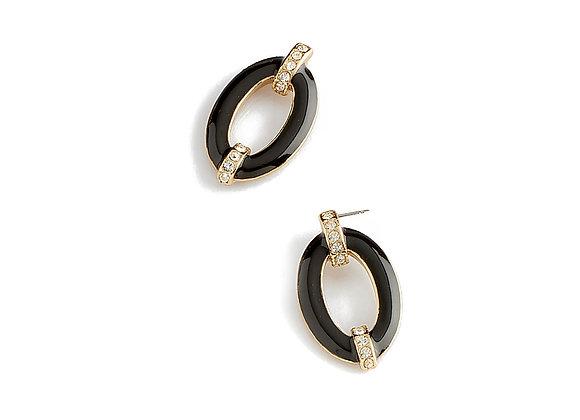 N&B Black Enamel Earrings
