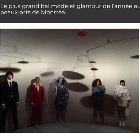 Le plus grand bal mode et glamour de l'année au Musée des beaux-arts de Montréal.