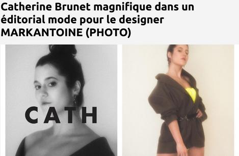 Catherine Brunet magnifique dans un éditorial mode pour le designer MARKANTOINE (PHOTO)
