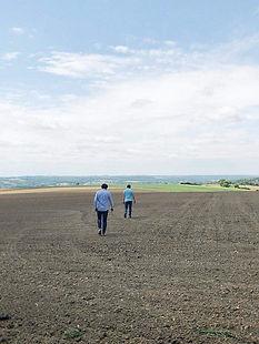 Fondateurs de grain. dans les champs