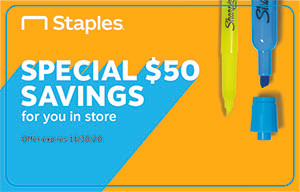 $50 Staples Gift Cards