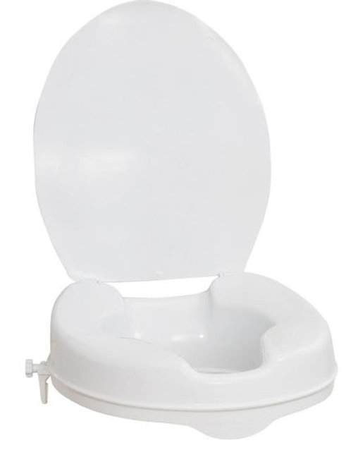 Raised Toilet seat w/Lid