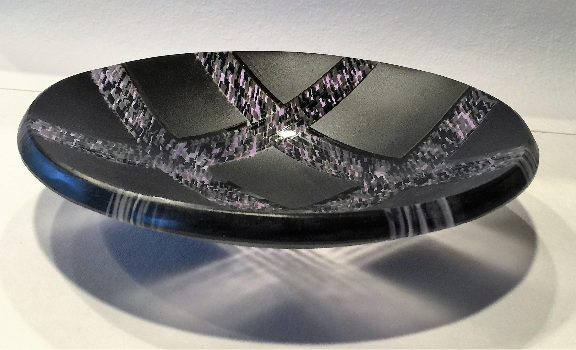"Crossings: Charcoal.  8"" bowl"