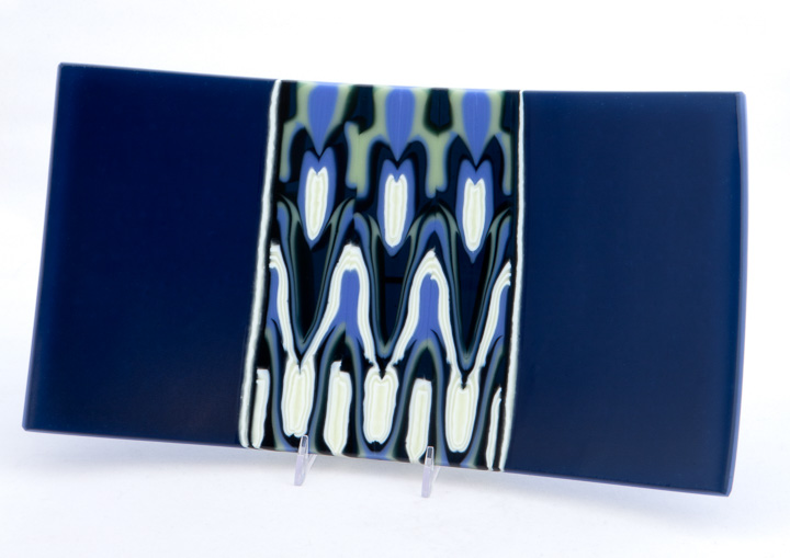 Deep Blue/Periwinkle Platter, 8x14