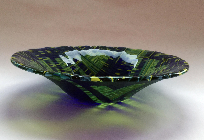 Green & Cobalt Vegetable Bowl