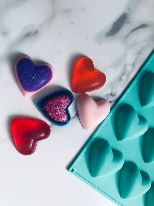 ערכה להכנת סבונים - בצורת לבבות