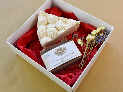 Cake and coffee gift box