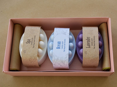 Set of 3 massage soaps