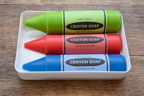 Crayons - סט סבונים צבעוניים בצורת עפרונות