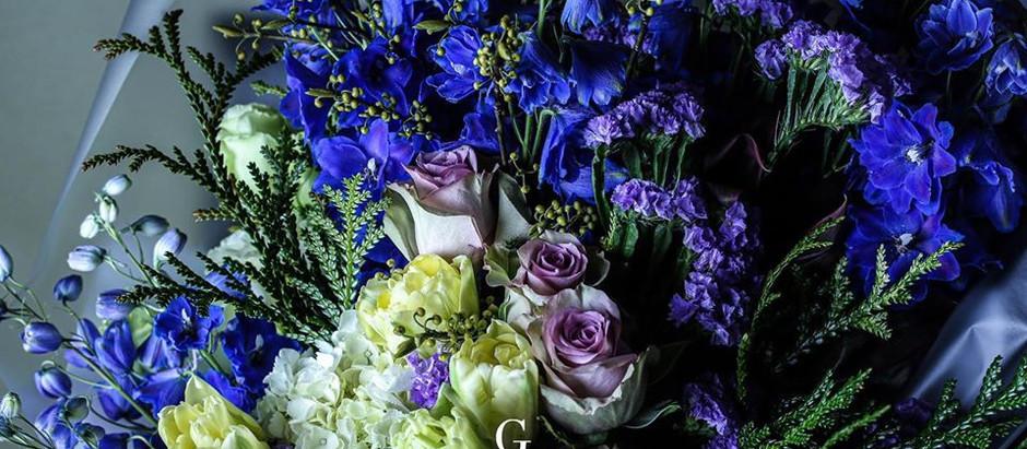"""自然界では珍しい""""青色のお花"""" 10%の奇跡を花束に込めて ~札幌円山のお花屋さんGANON FLORIST~"""