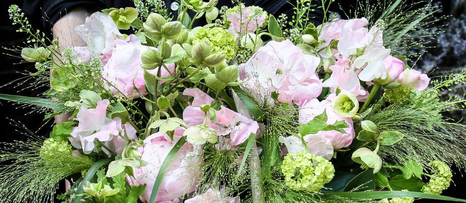 【今日の花物語】春のお花で創るピンク&グリーンのバスケットアレンジメント