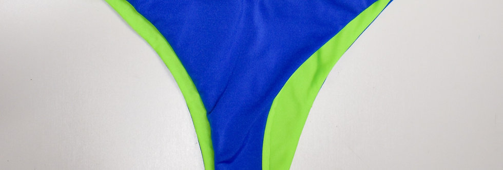PIPELINE Cheeky Bottoms: Reversible Royal Blue/Neon Green
