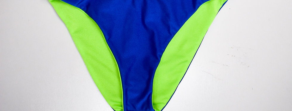 PIPELINE Classic Bottoms: Reversible Royal Blue/Neon Green High Cut