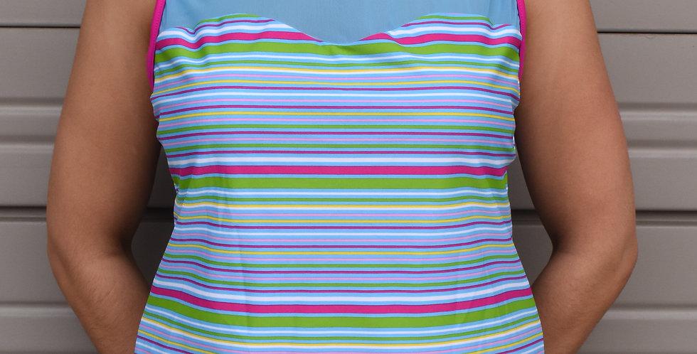 Multicolor Tankini Top
