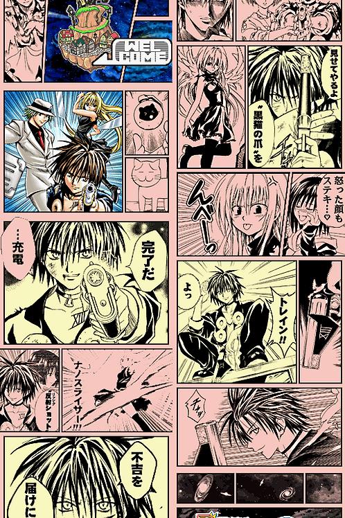 Coaster Manga Black Cat set
