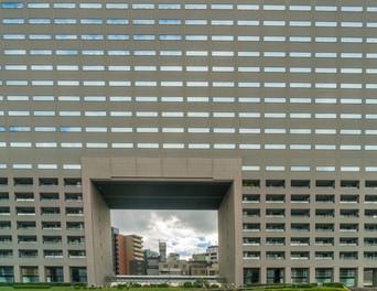 Vision au travers d'un immeuble