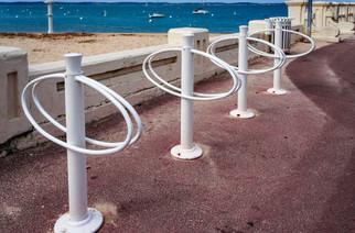 Support vélo sur l'esplanade à Arcachon