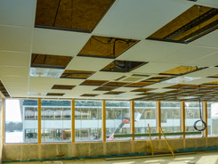 Etrange damier de plafond