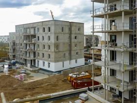 Immeuble de logements collectifs en phase de construction
