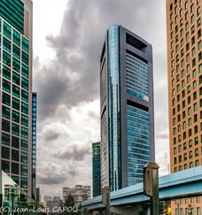 Immeubles dans les nuages à Tokyo
