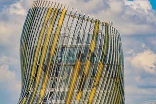 Une photo de détail de la Cité mondiale du vin à bordeaux