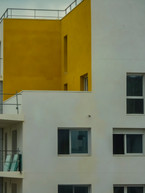 Détails de façades modernes et pleines de couleurs