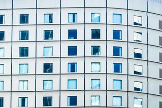 Détails d'une façade d'immeuble à Tokyo