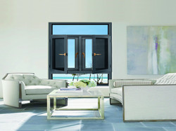 integrated casement window with screen (