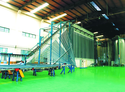 Vertical Powder Coating Production Line.