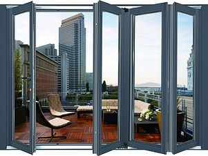 heavy hinged hidden bi-folding door (3).