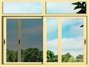 integrated sliding window with screen