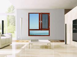 Energy-saving thermal break casement win