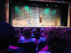 Charla on Stage at the Totem  Pole