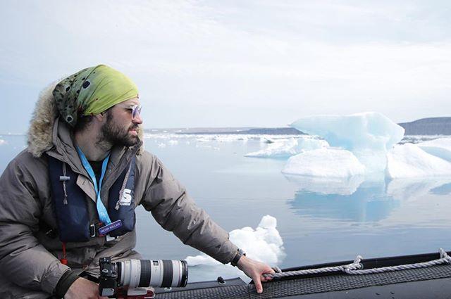 Scanning the ice off Akpatok Island - thanks for the photo _aaaaaantonella _gear= my moms EB jacket