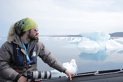 Scanning the ice off Akpatok Island - thanks for the photo _aaaaaantonella _gear= my moms EB jacket